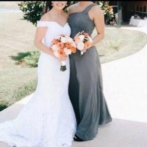 Grey bridesmaids azazie dress